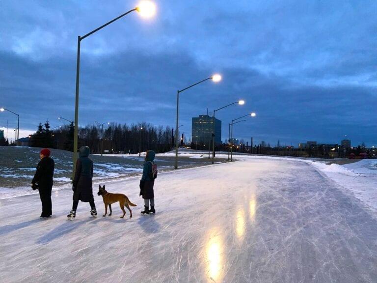 Cuddy Park skating, Anchorage, Alaska